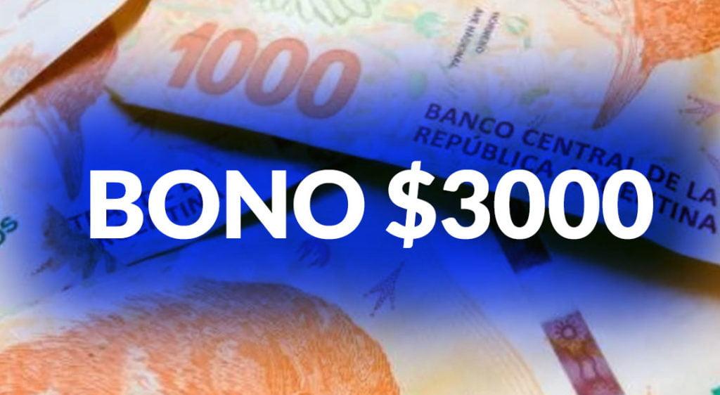 Bono de $3000