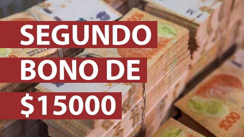Segundo Bono de $15000